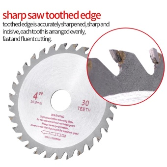 4inches 30T Teeth Cemented Carbide Circular Saw Blade Wood ToolBore Diameter (20mm) - intl