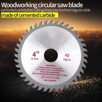 4inches 40T Teeth Cemented Carbide Circular Saw Blade Wood Tool Bore Diameter (20mm) - intl