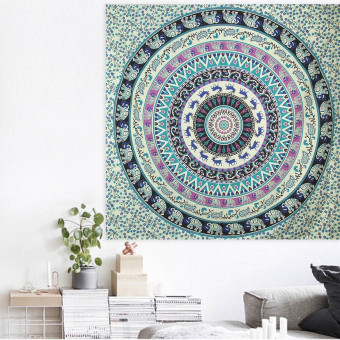57Inch Indian Mandala Tapestry Hippie Wall Hanging Bohemian Bedspread Throw Decor - intl