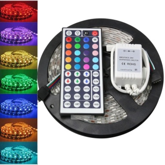 5M 5050 RGB SMD LED Waterproof Flexible Strip 300 LEDs + 44 Key IR Remote - intl
