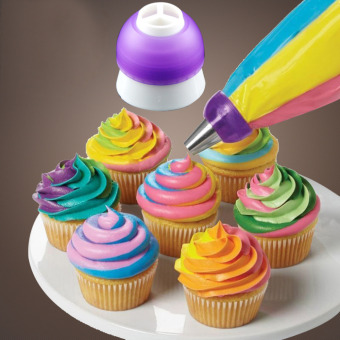 5pcs Icing Piping Decorating Nozzle Converter Adapter Fondant Cake Baking Tool