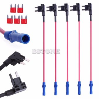 5x ATM Fuse Mini Adapter tap Dual Circuit Adapter Holder For CarAuto Truck Hot - intl