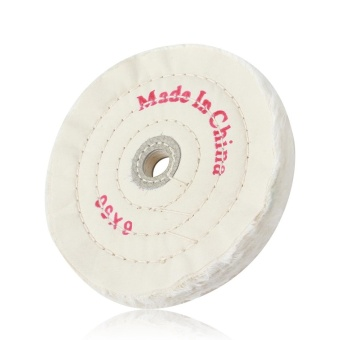 6 Inch Cloth Buffing Polishing Wheel Arbor Buffer Polish Grinder White Pad - intl