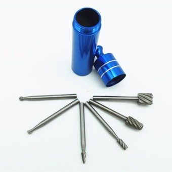6pcs Twist Drill Bit Dremel Rotary Tool Mini Drill Bit Set CuttingTools For Woodworking Accessories With Blue Storage Jar ZK58