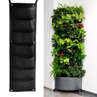 7 Pocket Hanging Vertical Garden Planter Indoor Outdoor Herb PotDecor