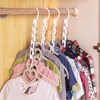 8-pack Foldable Anti-wind Clothes Hanger