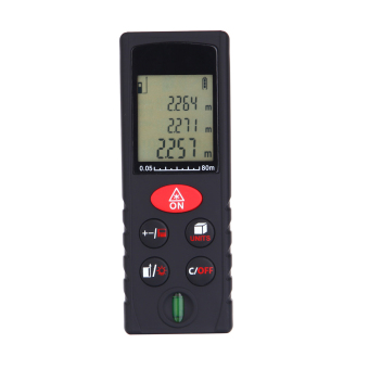 80m/262ft Mini Handheld Digital Laser Distance Meter High Precision Range Finder Area Volume Measurement Level Bubble