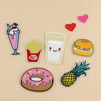 8Pcs/Set Embroidery Patch DIY Sticker For Bag Hat Clothes Patches -intl