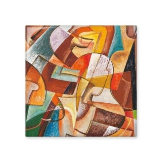 Abstract Geometric Colorful Western Style Abstract Art PaintingCeramic Bisque Tiles for Decorating Bathroom Decor Kitchen CeramicTiles Wall Tiles - intl