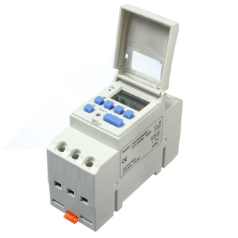 AC 220V 16A DIN Rail Digital Programmable Timer Relay Delay Switch + Manual - intl