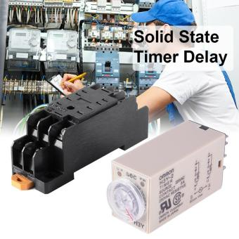 AC 220V H3Y-2 Time Delay Relay Solid State Timer 0-60S DPDT withSocket BI600 - intl