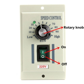 AC 220V Speed Knob Control Voltage Controller For 400W Motor Output DC 0-220V - intl