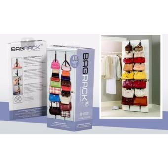 Adjustable Over Door Straps Hanger Bag Clothes Coat Rack Organizer16 Hooks