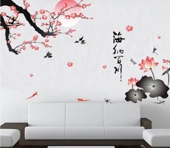 All Rivers Run Into Sea Wall Sticker Living Room Decor - intl Price Philippines