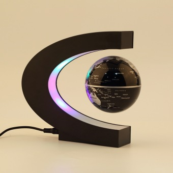 Allwin C shape LED World Map Decoration Magnetic LevitationFloating Globe Light