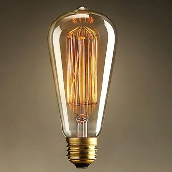 Antique Retro Vintage E27 40W Edison Light Bulb Incandescent LightSquirrel-cage Filament Bulb (110V)