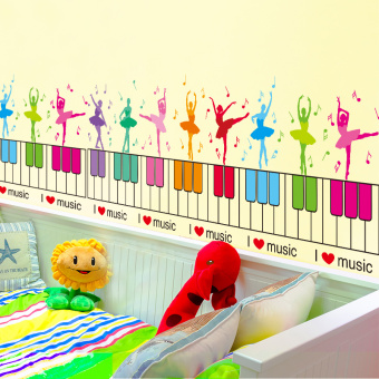 Baet room decoration kindergarten children's room baseboard Bizhi wall adhesive paper