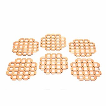 Bamboo Insulation Hot Pot Mat Holder set of 6 Price Philippines