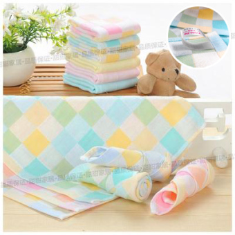 Baobao cotton gauze newborns face towel