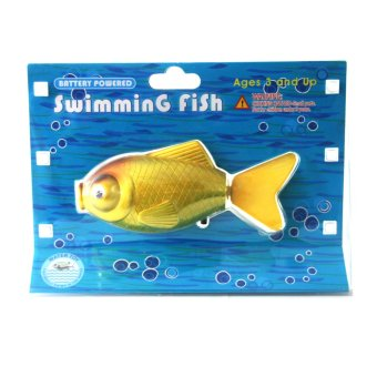 Battery Powered Swimming Yellow Gold Fish Water Toy Price Philippines