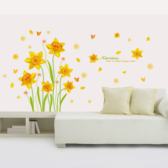 Beautiful gold living room entrance corridor flower stickers wall adhesive paper Price Philippines