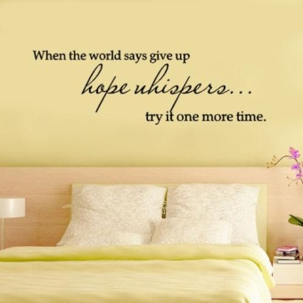 Best Vinyl When the world says give up Quote Decal Wall StickerHome Arts Decor - intl