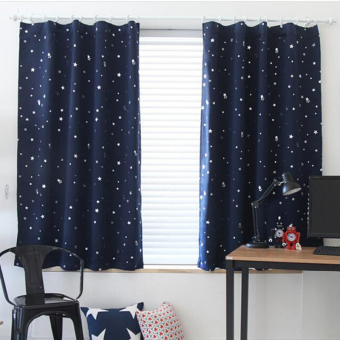 Blackout Thermal Solid Window Curtain Dark blue
