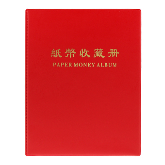 BolehDeals 20 Pages Paper Money Currency Banknote Collection Holder Album Book Red #C