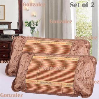 Breathable Ethnic Style Bamboo Pillow (Design May Vary) Set of 2