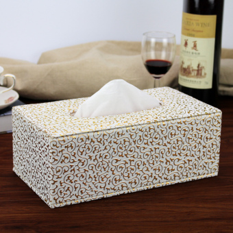 Bright skin crocodile pattern tissue box