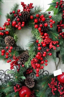 BYL Christmas wreath supplies decoration marry Decoration