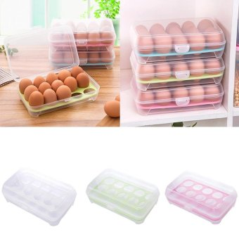 BYLRefrigerator15Eggs airtight storage container plastic box
