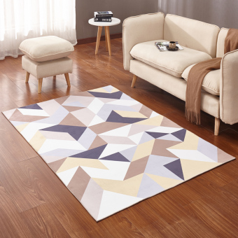 Carpet minimalist living room coffee table sofa large rug