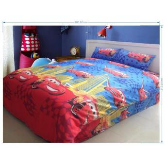 cartoon soft cotton bed sheet set of 3 (fitted sheet and pillowcase)