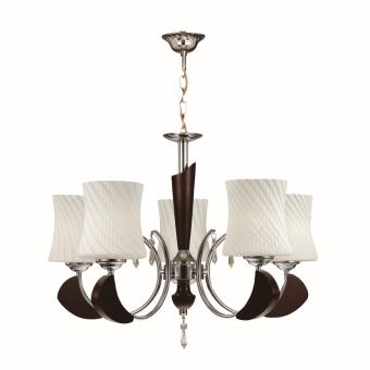 CEILING LAMP (BROWN) ?:540MM H:440MM WOOD, METAL & GLASS