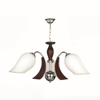 CEILING LAMP (BROWN) ?:570MM H:380MM WOOD, METAL & GLASS