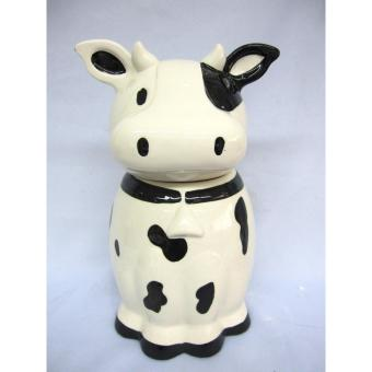 Ceramic Cow Design Cookie Candy Food Jar