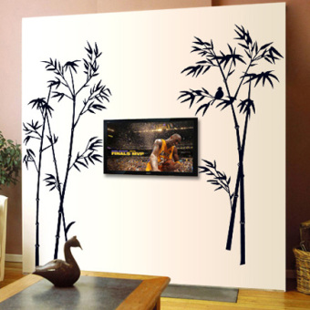 Chinese-style large bamboo adhesive paper living room wall sticker