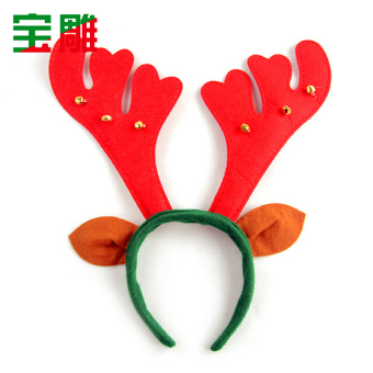 Christmas bell antlers headband hair bands