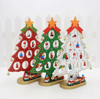 Christmas Creative DIY Wooden Christmas Tree Decorations
