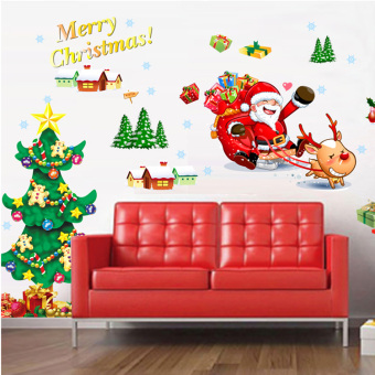 Christmas tree living room background wall stickers