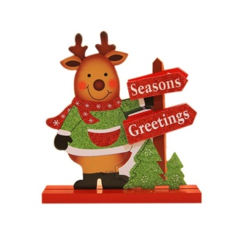 Christmas Wooden Decorations Moose Snowman - Elk Style - intl