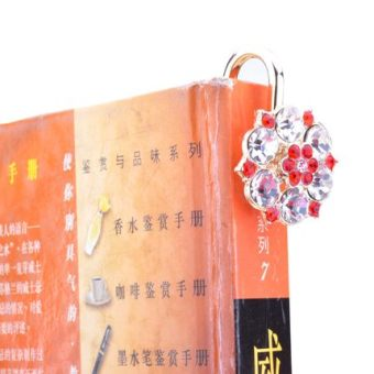 Classmate New style birthday gift red diamond Meihua metal bookmark