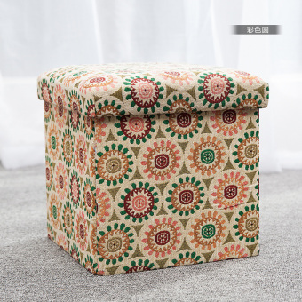 Cloth adult home foldable sofa stool storage stool