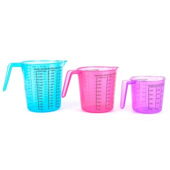 Colored Liquid Measuring Set of 3