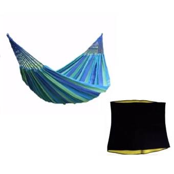 Colorful Canvas Hammock Duyan Hanging Sleeping Bed (color may vary)with Hot Shaper for Belly Price Philippines