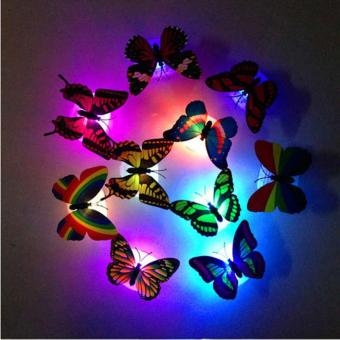 Colorful Changing Butterfly LED Night Light Lamp Home Room PartyDesk Wall Decor - intl