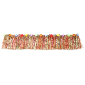 Colorful Flower Hawaiian Party Table Grass Skirt Summer BeachParties Decoration(Colorful) - intl