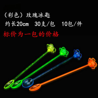Cool plastic cocktail stick honey stirring spoon stirring rod