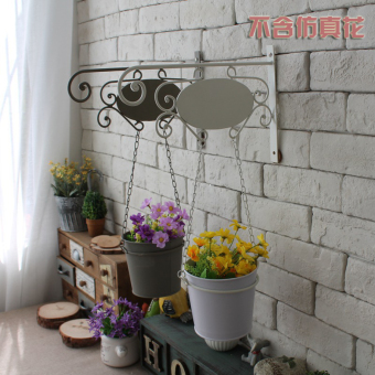 Country green radish hanging pots balcony flower pot rack hanging baskets